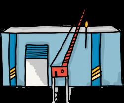 Das Werftgebäude der Hostingwerft